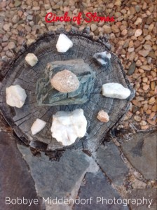 Stone circle mandala grounds the new, emerging story of Regeneration + Purpose.